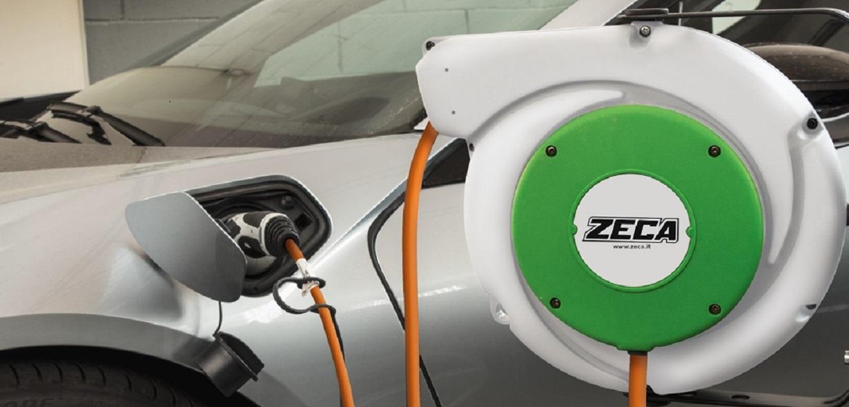 Kabeltrumma för elbilssladdning